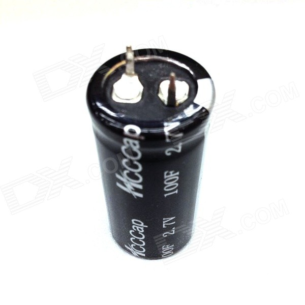 ZnDiy-BRY 2.7V / 100F Super Electrolytic Capacitor - Black