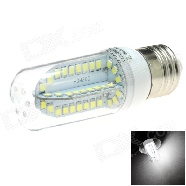 HONSCO E27 5W 400lm 84-SMD 2835 LED 6000K White Light Corn Bulb (AC 85~265V)