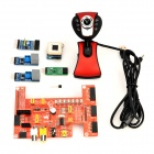 Cubieboard DVK570 External Expansion Board w/ USB 0.3MP Camera Set - Red