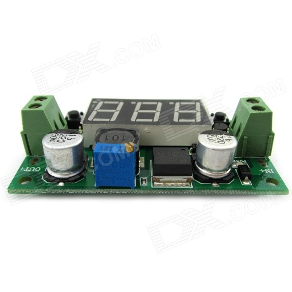 LM2596 Adjustable Step-down Voltage Regulator Buck Converter Module with Voltmeter Display for DIY