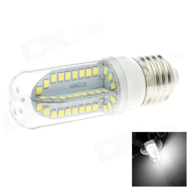 HONSCO E26 5W 400lm 6000K 84-SMD 2835 LED White Light Bulb Lamp (AC 85~265V) honsco e27 5w 400lm 3000k 84 smd 2835 led warm white light bulb white silver ac 85 265v