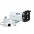 ESCAM K104 4-CH 1080P NVR + 4 x QD300 720P IP-kameraer med 4-IR LED - Hvit (US-plugger)