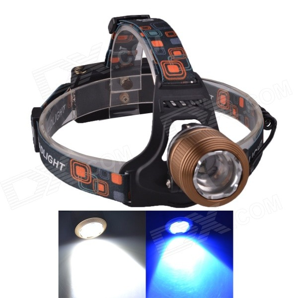 SingFire SF-645Z Zooming White + Blue 3-Mode 250lm Headlamp w/ 2 x CREE XPE R2 - Brown (2 x 18650) стоимость