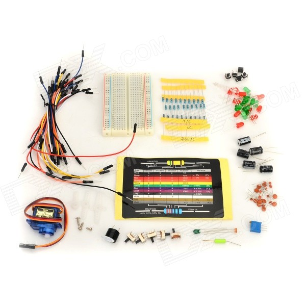 KEYES KT0053 Breadboard + Ceramic Capacitors + Resistors + More for Arduino - Multicolored