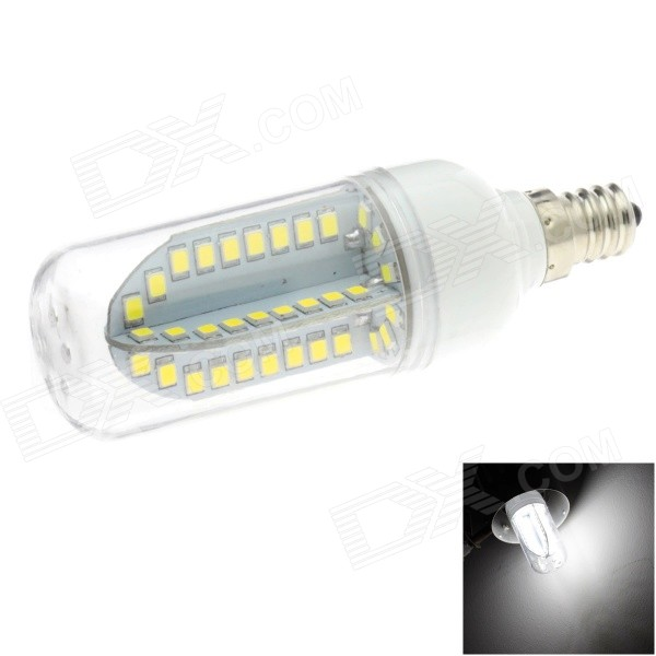 HONSCO E12 5W 400lm 84-SMD 2835 LED 6000K White Light Corn Bulb (AC 85~265V) honsco e27 5w 400lm 3000k 84 smd 2835 led warm white light bulb white silver ac 85 265v