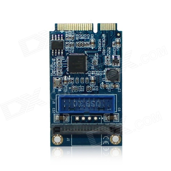 MPCE2U-R01 MINI PCI-E to USB 3.0 / MPCIE to Front 20/19-Pin Extension Adapter Card - Blue use of e journals