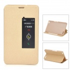 Protective Flip Open PU + PC Case w/ Stand / Sleep Function for Huawei Honor X1 - Golden