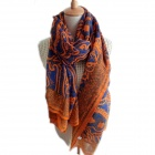 Fashion Totem Pattern Women's Voile Long Shawl / Scarf - Orange (160 x 80cm)