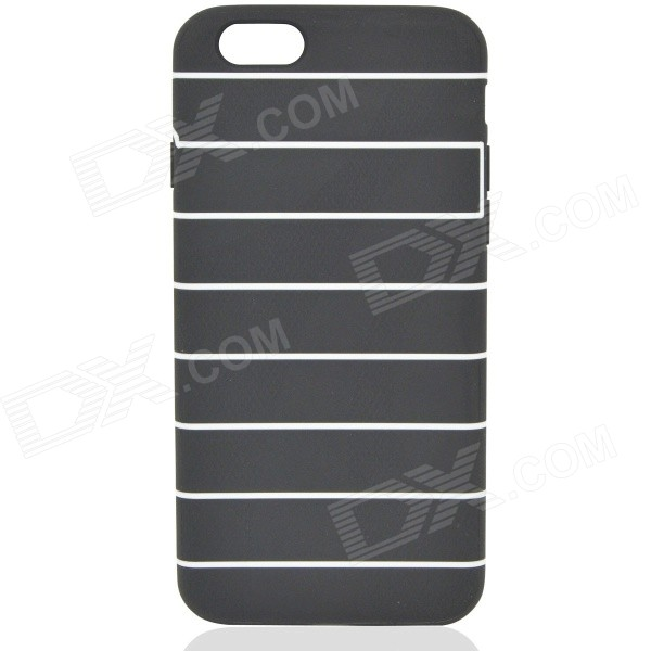 """Fashion Protective TPU Back Case for IPHONE 6 4.7"""" - Black + White"""