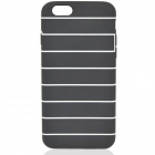"Fashion Protective TPU Back Case for IPHONE 6 4.7"" - Black + White"