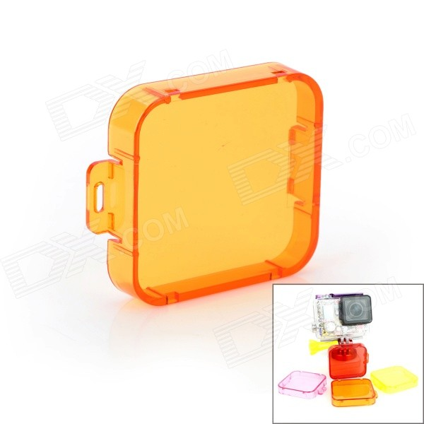 Professional Under Sea Diving Housing Cover Filter for GoPro HD Hero 3+ / SJ4000 - Orange brand new 310 7522 725 10092 replacement projector lamp with housing for dell 1200mp 1201mp