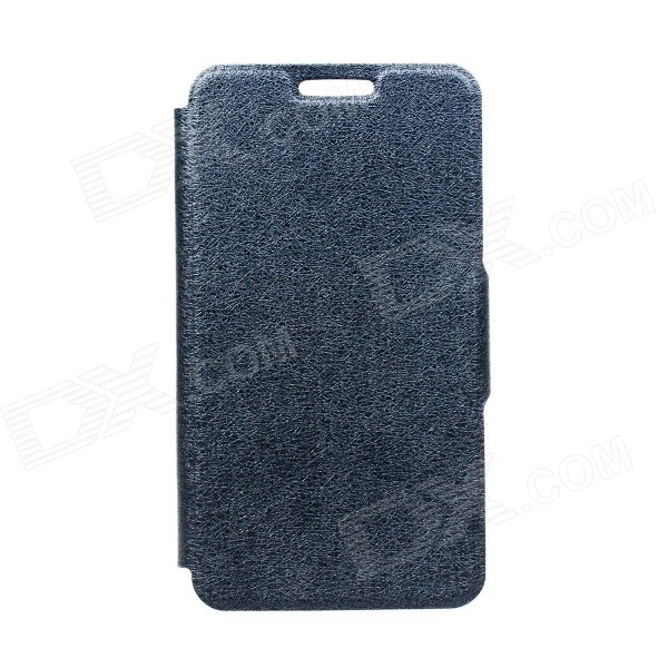 Kinston Silk Pattern PU Leather Full Body Case w/ Stand for Motorola Moto G - Black