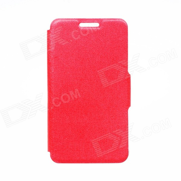 Kinston Silk Pattern PU Leather Full Body Case w/ Stand for Motorola Moto G - Red