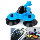 Triple-Cup Suction Mount Holder With Screw Adapter for Gopro Hero 4/ 3+/3/2/1/SJ4000 - Blue