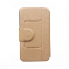Kinston Silk Pattern PU Leather Full Body Case w/ Stand for Motorola Moto G - Golden