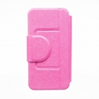 Kinston Silk Pattern PU Leather Full Body Case w/ Stand for Motorola Moto G - Deep Pink