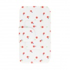 Kinston Little Flower Pattern PU Leather Full Body Case w/ Stand for Motorola Moto G - White + Red