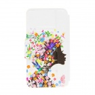 Kinston Flower Girl Pattern PU Leather Full Body Case with Stand for Moto G