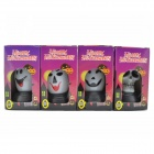 Halloween Poca Colorful Jefe fantasma lámpara portátil - Blanco + Negro (4 PCS)