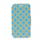 Kinston Woven Ribbon Pattern PU Leather Full Body Case w/ Stand for HTC Desire 816 - Multicolored