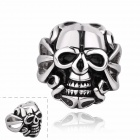 R003 Skull Shaped Titanium Steel Ring - Black + Silver (US Size: 8)