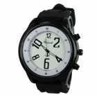 Weijieshi 5872 Men's Silicone Band Quartz Analog Sports Wrist Watch - White + Black (1 x 377)