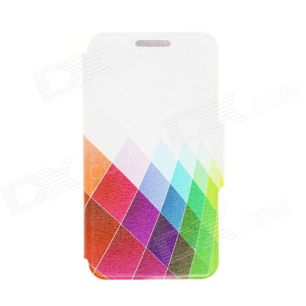 Kinston Color Diamond Pattern PU Leather Full Body Case w/ Stand for HTC Desire 816 - Multicolored