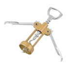 SW-M003 Zinc Alloy + ABS Wing Corkscrew - Gold + Silver