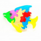 W2232 DIY Fish Style Puzzle Educational Toy for Kids - Multi-Color