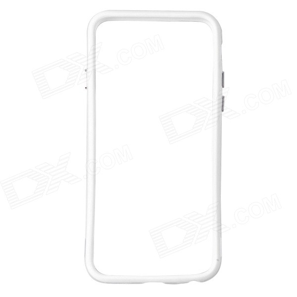 Protective TPU + PC Bumper Frame for IPHONE 6 - White + Transparent
