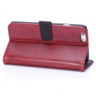 "Hat-Prince Protective PU Leather + Plastic Case w/ Stand and Card Slot for IPHONE 6 4.7"" - Red"