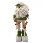 NEJE ST0006-6 Christmas Stretch Santa Claus Doll - Green + White + Brown