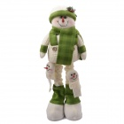 NEJE ST0006-7 Christmas Old Stretch Santa Claus Gift Snowman Doll - Green + White