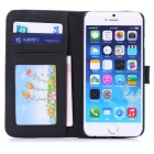 "Hat-Prince Protective PU Leather + Plastic Case w/ Stand and Card Slot for IPHONE 6 4.7"" - Gray"