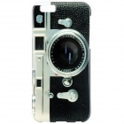 "Fashion SLR Camera Style Pattern Protective TPU Back Case for IPHONE 6 4.7"" - Black + White"