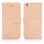 "ENKAY Zebra Skin Pattern Protective Flip Open Case w/ Stand / Card Slots for IPHONE 6 4.7"" - Brown"
