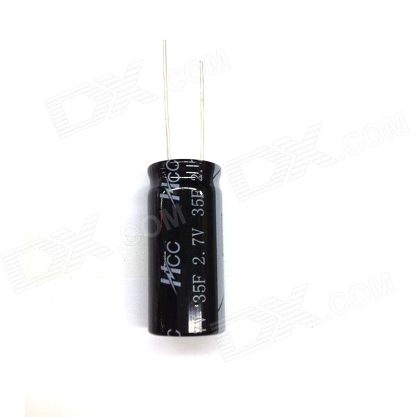 ZnDiy-BRY 2.7V / 35F Super Electrolytic Capacitor - Black