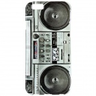 "Retro Radio Style Pattern Protective TPU Back Case for IPHONE 6 4.7"" - Black + Grey"