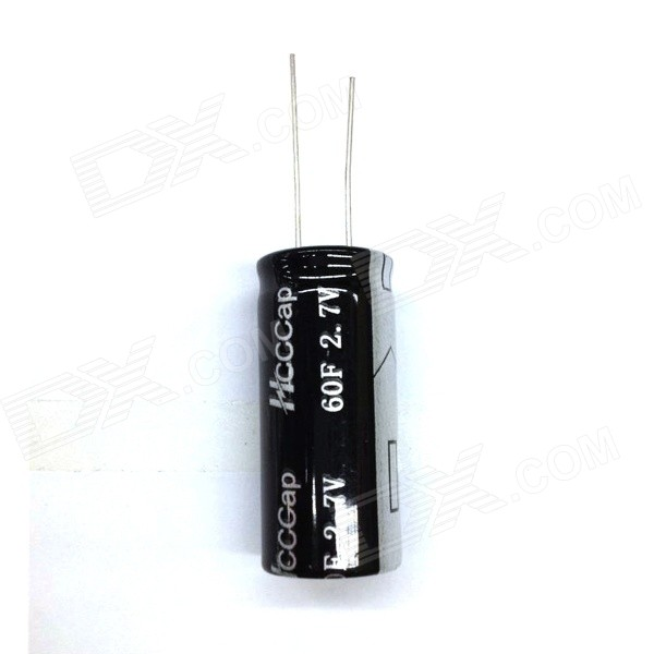 ZnDiy-BRY 2.7V / 60F Super Electrolytic Capacitor - Black