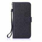 "ENKAY Protective PU Leather Flip Open Case w/ Stand / Strap / Card Slots for IPHONE 6 4.7"" - Black"