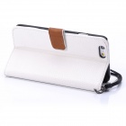 "ENKAY Protective PU Leather Case w/ Stand and Card Slots for IPHONE 6 4.7"" - White"