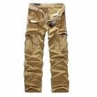R26332 Men's Comfortable Casual Pants - Khaki (XL)