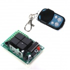 ZnDiy-BRY DC 12V 4-CH Learning Code Remote Control Switch Kit - Black + Blue