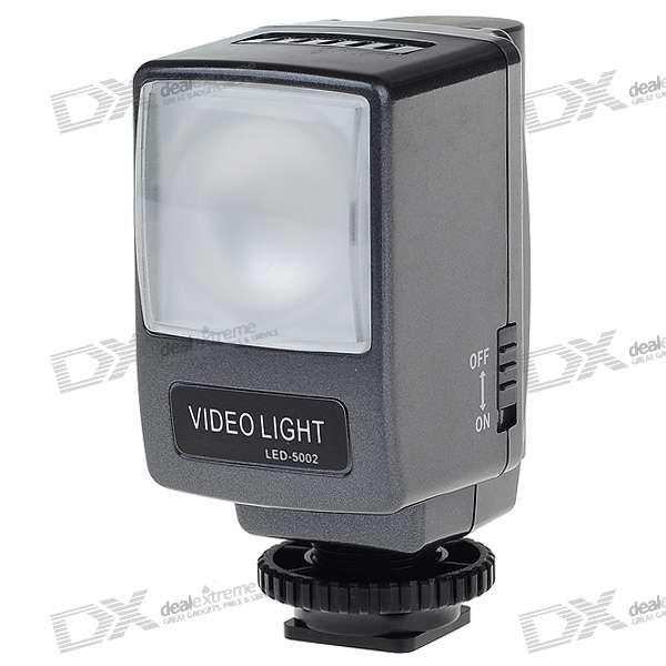 6500K LED Video Light for Camcorder with 1500mAh Rechargeable Li-ion Battery Pack