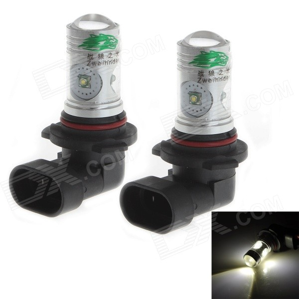 Zweihnder 9006 20W 1900lm 6500K White Light Car Foglight w/ 4 x Cree XP-E (12~24V / 2 PCS)