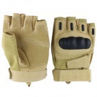 Fashionable Outdoor Cycling Half-finger Motorcycle Gloves - Khaki (Pair / Size L)