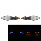 MZ 14-LED 0.7W 50LM 11 x Yellow Light & 3 x Blue Light Motorcycle Steering Light (2 PCS)
