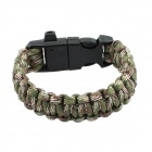 Outdoor Survival Emergency Rope Bracelet w/ Flintstone - Camouflage