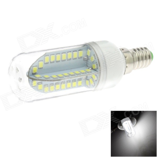 HONSCO E14 5W 400lm 84-SMD 2835 LED 6000K White Light Corn Bulb (AC 85~265V) honsco e27 5w 400lm 3000k 84 smd 2835 led warm white light bulb white silver ac 85 265v