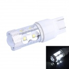 T20 50W 500lm White Car Steering / Signal / Brake Lamp w/ 10-Cree XB-D R3 (DC 12~24V)